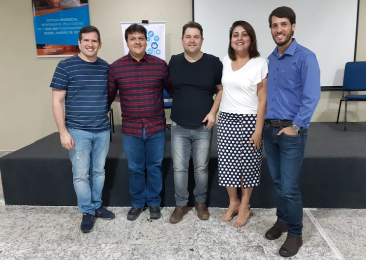 Lançamento Diretoria Regional de Franca. Na foto João Geroldo, Murilo Bettarelli, Jean Dunkl, Gisele Atayde e Alexandre Benedetti